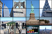 New York City collage of landmarks and tourist destinations