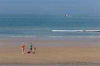 France, Pas-de-Calais (62), Côte d'Opale, Audresselles: La plage //  France, Pas de Calais, Cote d'Opale (Opal Coast), Audresselles: the beach