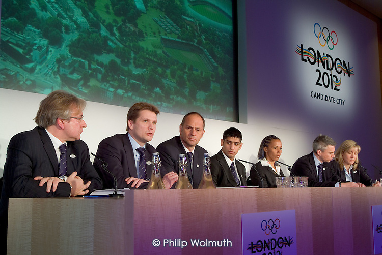 London 2012 press conference at the beginning of the International Olympic Committee Evaluation Commission's official visit to London to asses the city's bid for the 2012 games.