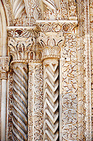 Gothic Catalan style columns ( 1430) by  Antonio Gambara, Palermo Cathedral, Sicily
