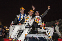 Winners, Joao Barbosa, Sebastien Bourdais, Christian Fittipaldi, 12 Hours of Sebring, Sebring International Raceway, Sebring, FL, March 2015.  (Photo by Brian Cleary/ www.bcpix.com )