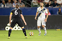 CARSON, CA - SEPTEMBER 21: Sebastian Lletget #17 of the Los Angeles Galaxy moves with the ball during a game between Montreal Impact and Los Angeles Galaxy at Dignity Health Sports Park on September 21, 2019 in Carson, California.