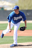 Vin Mazzaro #32 of the Kansas City Royals participates in spring training workouts at the Royals complex on February 21, 2011  in Surprise, Arizona. .Photo by:  Bill Mitchell/Four Seam Images.