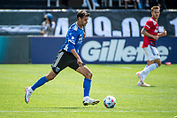 SAN JOSE, CA - APRIL 24: Chris Wondolowski #8 of the San Jose Earthquakes passes the ball during a game between FC Dallas and San Jose Earthquakes at PayPal Park on April 24, 2021 in San Jose, California.