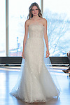 "Model Magdalena walks runway in a ""Goldy"" bridal gown from the Rivini Spring Summer 2017 bridal collection by Rita Vinieris at The Standard Highline Room, during New York Bridal Fashion Week on April 15, 2016."