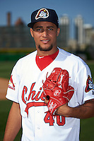 Peoria Chiefs pitcher Junior Fernandez (40) poses for a photo before a game against the Dayton Dragons on May 6, 2016 at Dozer Park in Peoria, Illinois.  Peoria defeated Dayton 5-0.  (Mike Janes/Four Seam Images)