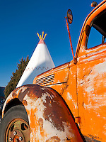 The iconic TEE Pee Motel in Holbrook, Arizona alon Route 66