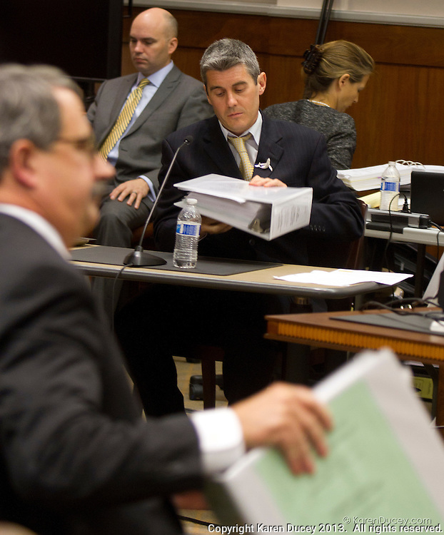 PAUL WATSON, Founder of the Sea Shepherd Conservation Society, testifies in the United States  Court of Appeals, Ninth Circuit in Seattle, Washington under Commissioner Peter L. Shaw in Seattle, Wash. on November 6, 2013. Watson is being brought to trial by the Institute of Cetacean Research, Kyodo Senpaku Kaisha, Ltd., Tomoyuki Ogawa, Toshiyuki Miura and Hiroyuki Komura for impeding their whale hunt in the Southern Ocean, potentially violating an injunction issued by the court last December 2012. (copyright Karen Ducey/KarenDucey.com)