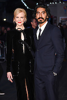 """Nicole Kidman and Dev Patel<br /> at the London Film Festival 2016 premiere of """"Lion"""" at the Odeon Leicester Square, London.<br /> <br /> <br /> ©Ash Knotek  D3176  12/10/2016"""