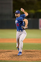 Los Angeles Dodgers relief pitcher Zach Pop (66) during a Minor League Spring Training game against the Seattle Mariners at Camelback Ranch on March 28, 2018 in Glendale, Arizona. (Zachary Lucy/Four Seam Images)