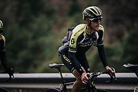 Matteo Trentin (ITA/Michelton-Scott)<br /> <br /> 76th Paris-Nice 2018<br /> Stage 7: Nice > Valdeblore La Colmiane (175km)
