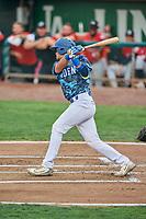 Marco Hernandez (38) of the Ogden Raptors bats against the Billings Mustangs at Lindquist Field on August 17, 2018 in Ogden, Utah. Billings defeated Ogden 6-3. (Stephen Smith/Four Seam Images)