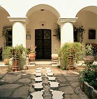 The house of Edward James at the Edward James Surrealist Gardens in Las Pozas, Xilitla, Mexico