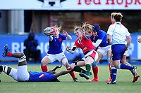 Lauren Smyth of Wales in action during the Women's Six Nations Championship Round 3 match between Wales and France at the Cardiff Arms Park in Cardiff, Wales, UK. Sunday 23 February 2020