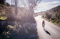 Kiel Reijnen (USA/Trek-Segafredo) coming down the Puig de Randa<br /> <br /> Team Trek-Segafredo Training Camp <br /> january 2017, Mallorca/Spain