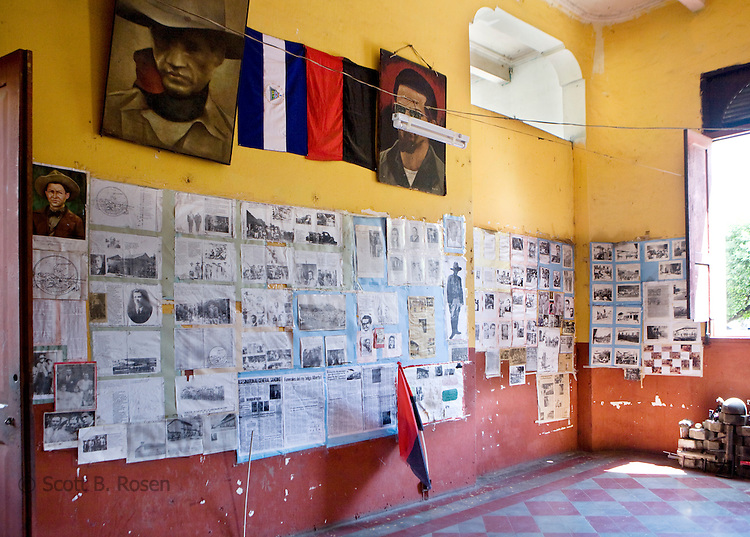 Sandinista (FSLN) history on display inside the Museum of the Revolution, Leon, Nicaragua