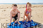 Faith and Courage Breen Connolly from Banna enjoying the sun drenched afternoon on Banna beach on Saturday