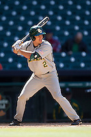 Baylor Bears first baseman Steve DalPorto #2 at bat during the NCAA baseball game against the California Golden Bears on March 1st, 2013 at Minute Maid Park in Houston, Texas. Baylor defeated Cal 9-0. (Andrew Woolley/Four Seam Images).