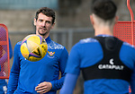 St Johnstone Training….01.10.20     <br />Craig Bryson pictured with Scott Tanser during training at McDiarmid Park ahead of Sundays game against Celtic.<br />Picture by Graeme Hart.<br />Copyright Perthshire Picture Agency<br />Tel: 01738 623350  Mobile: 07990 594431