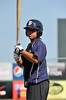 Brooklyn Cyclones catcher Juan Centeno (7) during game against the Aberdeen Ironbirds at MCU Park in Brooklyn, NY June 21, 2010. Cyclones won 5-2.  Photo By Tomasso DeRosa/Four Seam Images