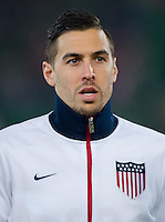 VIENNA, Austria - November 19, 2013: Geoff Cameron during a 0-1 loss to host Austria during the international friendly match between Austria and the USA at Ernst-Happel-Stadium.