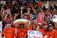 SAN ANTONIO, TX - MARCH 1, 2008: The Texas A&M University Corpus Christi Islanders vs. The University of Texas at San Antonio Roadrunners Men's Basketball at the UTSA Convocation Center. (Photo by Jeff Huehn)