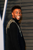 LOS ANGELES - MAR 4:  Chadwick Boseman at the 24th Vanity Fair Oscar After-Party at the Wallis Annenberg Center for the Performing Arts on March 4, 2018 in Beverly Hills, CA