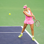 Sabine Lisicki (GER) during her quarterfinal match against Flavia Pennetta (ITA) at the BNP Parisbas Open in Indian Wells, CA on March 19, 2015.