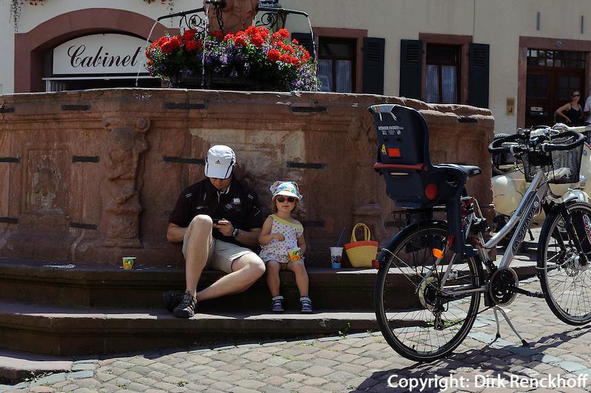 Marktplatz (Schnatterloch) in Miltenberg in Unterfranken, Bayern, Deutschland