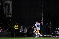 LAKE BUENA VISTA, FL - JULY 27: Cristian Espinoza #10 of the San Jose Earthquakes celebrates a goal during a game between San Jose Earthquakes and Real Salt Lake at ESPN Wide World of Sports on July 27, 2020 in Lake Buena Vista, Florida.