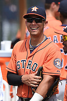 Houston Astros Alexander Melendez (22) before a minor league spring training game against the Detroit Tigers on March 25, 2015 at Tiger Town in Lakeland, Florida.  (Mike Janes/Four Seam Images)