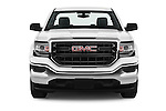 Car photography straight front view of a 2017 GMC Sierra-1500 Regular-Cab 2 Door Pickup Front View