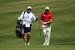 Graeme McDowell (N.IRL) and caddy walk onto the 14th green during the morning session on Day 3 of the Volvo World Match Play Championship in Finca Cortesin, Casares, Spain, 21st May 2011. (Photo Eoin Clarke/Golffile 2011)