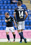 St Johnstone v Dundee…02.10.21  McDiarmid Park.    SPFL<br />Dundee's Paul McGowan shouts at his team mates<br />Picture by Graeme Hart.<br />Copyright Perthshire Picture Agency<br />Tel: 01738 623350  Mobile: 07990 594431