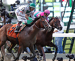 June 6, 2014: #7 Palace, Jose Ortiz up, wins the 36th running of the Grade II True North, six furlongs for four-year-olds and upward at Belmont Park in Elmont, PA. Palace is trained by Linda Rice. ©Joan Fairman Kanes/ESW/CSM