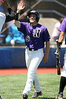 May 14, 2009:  Stephen Smith of Niagara University after scoring a run during a game at Demske Sports Complex in Buffalo, NY.  Photo by:  Mike Janes/Four Seam Images