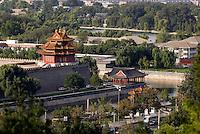 Blick vom Kohlehügel (Jingshan oder Meishan) auf den Kaiserpalast (Gugong, Verbotene Stadt), Peking (Beijing), China, Unesco-Weltkulturerbe