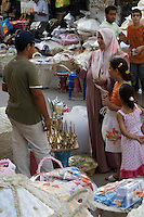 Tripoli, Libya - Medina Street Scene, Wedding Gift Baskets, Examining Rose Water Dispenser