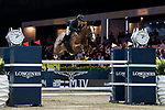 Billy Raymont of Australia riding Oaks Redwood competes in the Masters One DBS during the Longines Masters of Hong Kong at AsiaWorld-Expo on 11 February 2018, in Hong Kong, Hong Kong. Photo by Diego Gonzalez / Power Sport Images