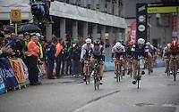 Marcel Kittel (DEU/Etixx-Quickstep) beats Mark Cavendish (GBR/DimensionData) with half a wheel to take his (record) 4th ever win in the Scheldeprijs<br /> <br /> 104th Scheldeprijs 2016