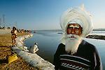 Elder, Kumbh Mela Festival, Ganges River, Allahabad, India