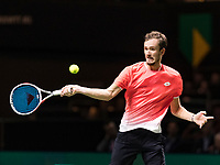 Rotterdam, The Netherlands, 13 Februari 2019, ABNAMRO World Tennis Tournament, Ahoy,  first round singles: Daniil Medvedev (RUS)<br /> Photo: www.tennisimages.com/Henk Koster
