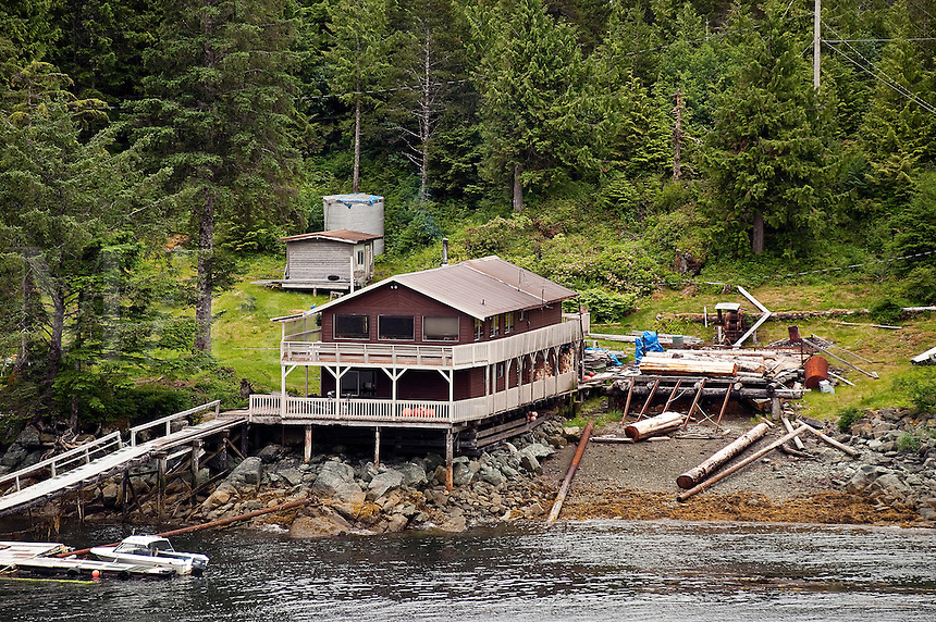 Off the grid cabin on Gravina Island, Alexander Archipelago, Alaska, USA