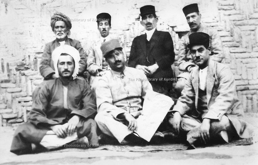 Iran 1935? .Sitting, left, Qazi Mohammed in Mahabad.<br /> Iran 1935?.Assis, a gauche, Qazi Mohammed a Mahabad
