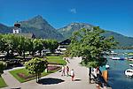 Austria, Salzburger Land, Salzkammergut, resort Strobl at Lake Wolfgang | Oesterreich, Salzburger Land, Salzkammergut, Urlaubsort Strobl am Wolfgangsee