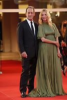 """VENICE, ITALY - SEPTEMBER 10: Vincent Lindon, Sandrine Kiberlain  on the red carpet for the movie """"Un Autre Monde"""" during the 78th Venice International Film Festival on September 10, 2021 in Venice, Italy.<br /> CAP/GOL<br /> ©GOL/Capital Pictures"""