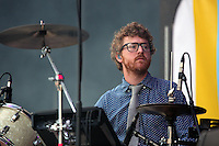 Pictured: Wrigglesworth of Public Service Broadcasting Saturday May 2016<br /> Re: Manic Street Preachers at the Liberty Stadium, Swansea, Wales, UK