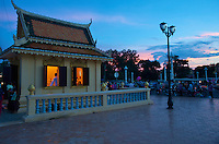 Sunset and Moonrise Phnom Penh Town Cambodia, Generic