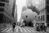 New York, New York<br /> November 26, 2009<br /> USA<br /> <br /> Following the Macy's Thanksgiving Day Parade in mid-town Manhattan, Hello Kitty is deflated on 7th Avenue as well as other children's cartoon character balloons marking the beginning of the Christmas season.