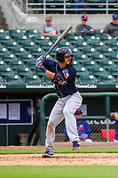 San Antonio Missions infielder Tyler Saladino (13) at bat during a Pacific Coast League game against the Iowa Cubs on May 2, 2019 at Principal Park in Des Moines, Iowa. Iowa defeated San Antonio 8-6. (Brad Krause/Four Seam Images)
